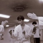Karlstad shibu about 1985. Anders Pettersson in focused training.