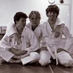Karlstad shibu cirka 1985. Från vänster Anders Pettersson, Mikael Sjödin & Peter Malmberg.