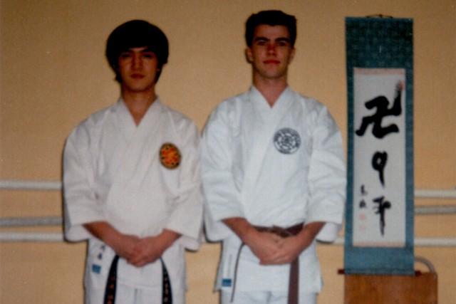 Kawahara Tomokazu-sensei tillsammans med Anders i samband med att Kawahara-sensei besökte Karlstad 1987.