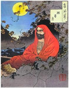 Bodhidharma, målning av Yoshitoshi cirka 1887