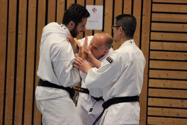Kaihoko-sensei teaching Kenneth and Patrik