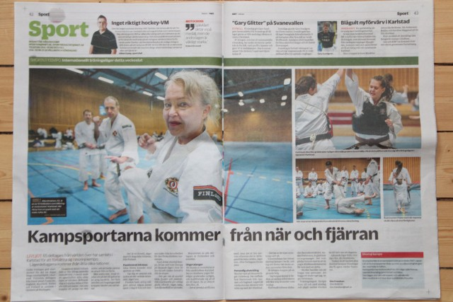 "A full spread in the largest local newspaper ""Nya Wermlands-Tidningen"""