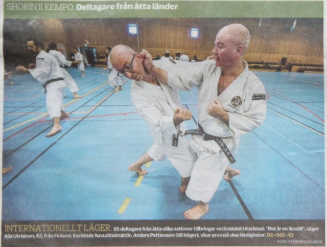 "A big photo on the first page (almost half of the page) in the largest local newspaper ""Nya Wermlands-Tidningen"""
