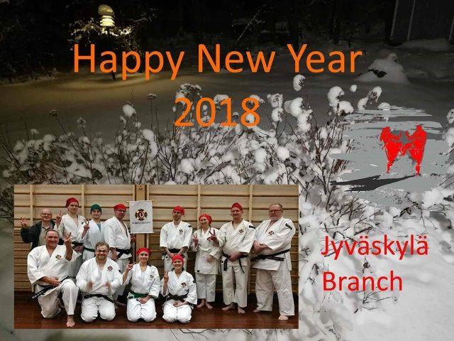 Hyvää Uutta Vuotta 2018 and many happy trainings, from Jyväskylä Branch