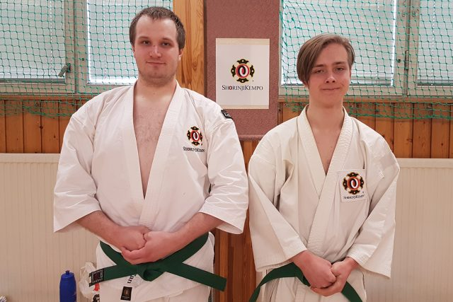 Stefan & Hugo after their grading to 5 kyū.