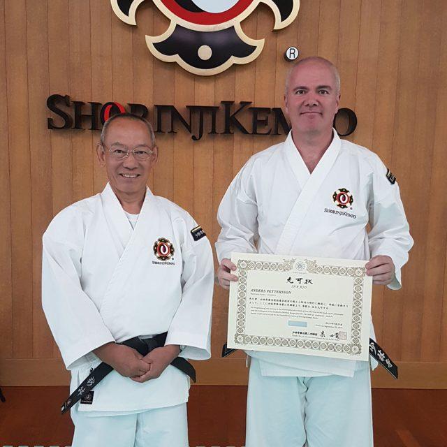 Anders tillsammans med Arai-sensei, Daihanshi 9 dan, tidigare ordförande för japanska förbundet.