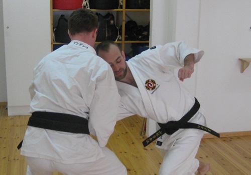 Marcus tränar med Anders Davidsson.