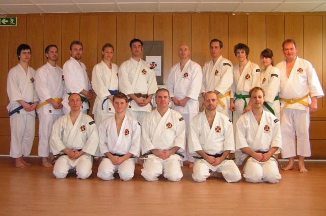 Gruppbild från träningsdagen i Skövde, maj 2010.