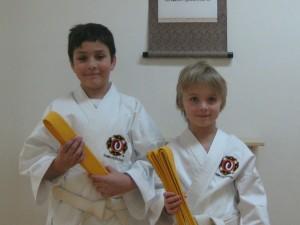 Robert och Olof graderade till 8 kyū.
