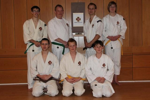 Gruppbild på de som var med på dagens träning (förutom Anders som tog bilden)