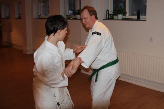 Simon tränar med Robert
