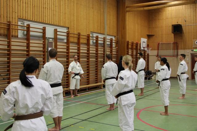 Åke-sensei inleder helgens träning