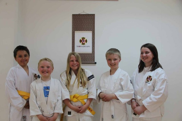 From left: Kevin, Viktor, Olivia, Erik & Johanna after passing their grading test.