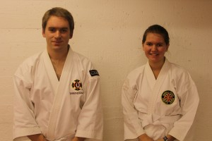 Christer and Alva graded to yonkyū, October 2012