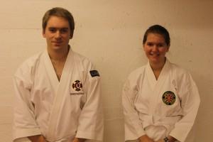 Christer och Alva graderade till yonkyū, oktober 2012