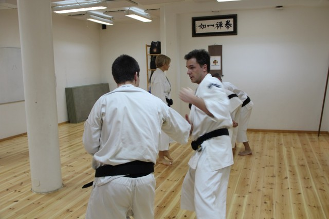 Pontus tränar ryūōken dai ikkei sōtai med Andreas