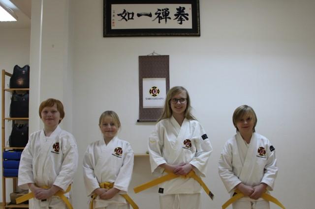 Gradering den 4 december, från vänster: Malcolm, Hanna, Agnes & Filip.
