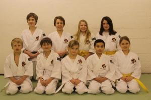 Gradering den 6 december, från vänster bakre raden: Hannes, Rickard, Olivia & Johanna. Främre raden från vänster: Alvin, Marcus, Isabelle, Josef & Julia.
