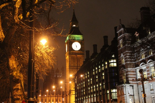 Klassisk bild från London; Big Ben.