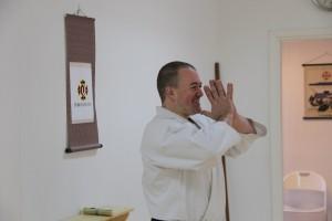Steve Williams-sensei, shibu-chō för Harrow Shibu i England, på besök i Karlstad tillsamman med ett antal medlemmar från Harrow