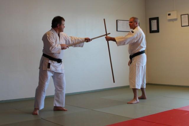Dirk Handzic och Anders tränar med jo