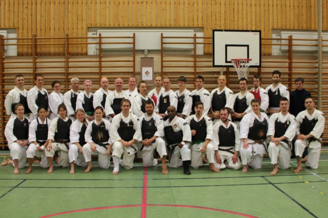 Gruppbild över deltagarna på Karlstad gasshuku 2013