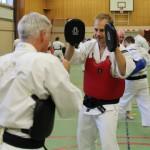 Jörgen från Karlstads Studenter tränar med Peter från Skövde