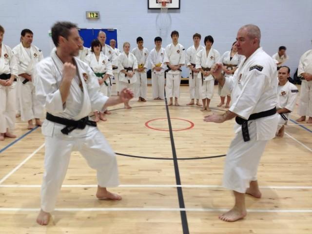 Hōkei-träning, Anders-sensei undervisar med hjälp av Jonny