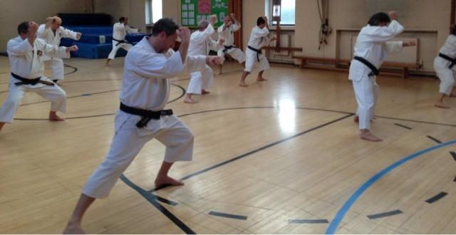 Anders-sensei leder träning av tenchiken