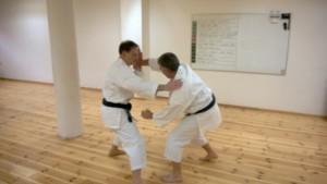 Joachim och Pelle tränar kata uchi nage