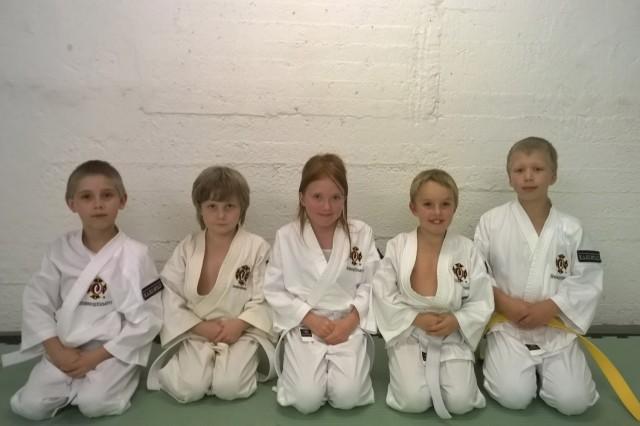 Från vänster; Max, Emil, Tilda, Tim & Alvin.