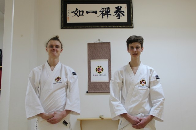 Christian and Jimmy after their grading to rokkyū (6 kyū).