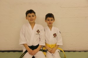 Marcus & Martin after they passed their grading for 5th and 6th kyū