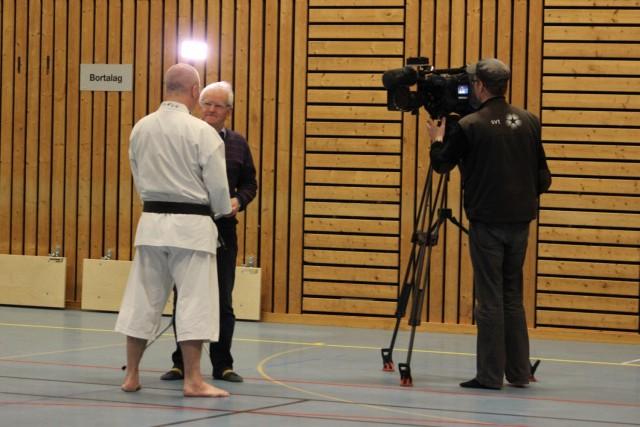 SVT (Värmlandsnytt) intervjuar Anders-sensei.