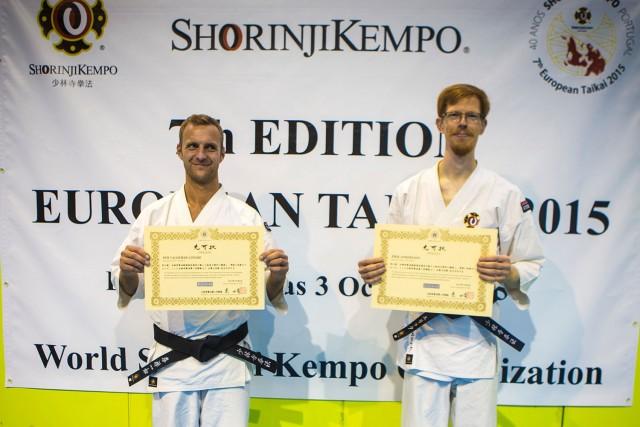 Här är Per tillsammans med Erik från Stockholm Östra som också graderade till yondan samtidigt.