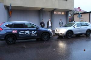 Inför avfärden, B&T bil stod för en av våra bilar.